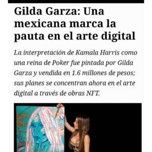 FORBES. Gilda Garza. Una Mexicana marca pauta en el arte digital